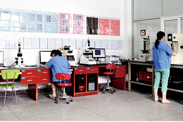 inspection lab in heat treatment factory